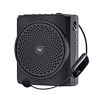 WinBridge Wireless Voice Amplifier Microphone Headset Bluetooth 16W 2200mAh Portable Rechargeable Pa Speaker and Microphone for Teachers Tour Guides Coaches Elderly Etc S619UHF