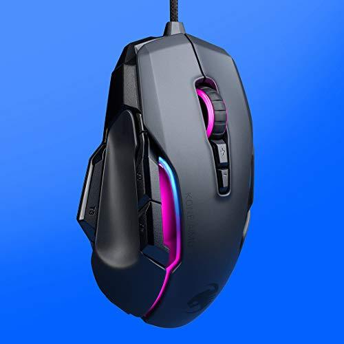 Roccat Kone AIMO Gaming Maus (hohe Präzision, Optischer Owl-Eye Sensor (100 bis 16.000 Dpi), RGB AIMO LED Beleuchtung, 23 programmierbare Tasten, Designt in Deutschland, USB), schwarz(remastered) - 2