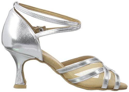 Diamant Latein 035-087-013 Damen Tanzschuhe – Standard & Latein, Silber (Silber), 40 EU (6.5 UK) - 6
