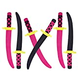 Lightweight Safe Soft Foam Toy Swords Ninja Pirate Style with Handle for Party Favors, Children Games & Activities (6 Pack)