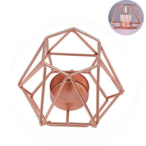 inherited Teelichthalter aus Metall, Schmiedeeisen Geometrische Kerzenhalter, Eisen Kerzenhalter, Nordischen Schmiedeeisernen Geometrischen Halter für Tischdekoration Hochzeit Dekoration