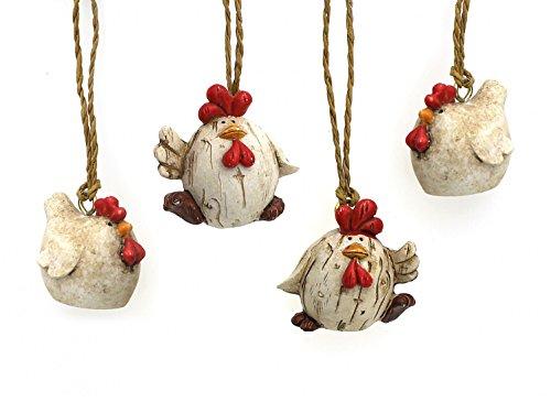 4 x Deko Figur Motiv Schneemann im Kostüm im Set je 5,5 cm, aus Polystein farbig, lustige Schneemänner Figuren Geschenkdeko Winter Weihnachten