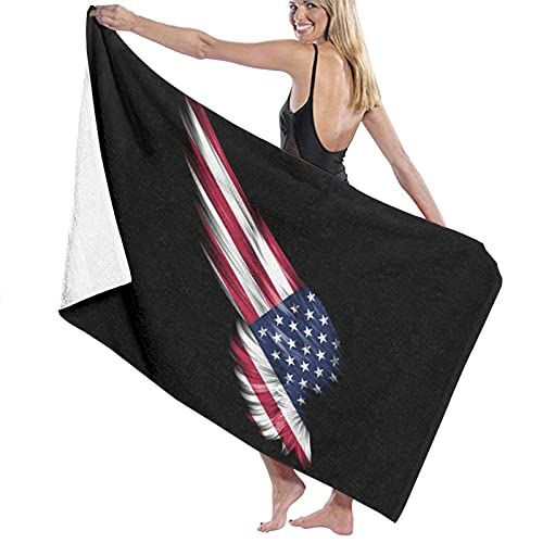 The Wings of The American Flag - Toalla de baño, secado rápido, suave, 130 x 80 cm