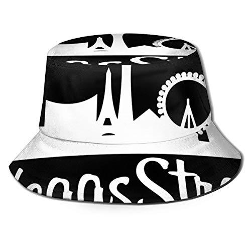 Lawenp Vegas Strong Bucket Hat Unisex Plegable Summer Travel Bucket Boonie Sombrero para el Sol Gorra de Pescador al Aire Libre