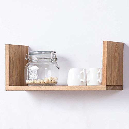 Inman Home Wandregal, aus Holz, rustikal, schwebende Regale zum Aufhängen, Bücherregal, CD- und DVD-Regal, Wandmontage, für Bilder und Auszeichnungen, 1 Regal, Eichenholz, eiche, 40,6 cm