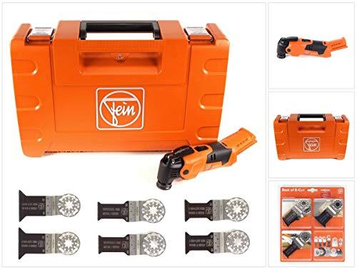 FEIN AFMM 18 QSL Select 18 V Li-Ion Akku Oszillierer MultiMaster im Koffer + 6 tlg. Starlock Sägeblätter Set