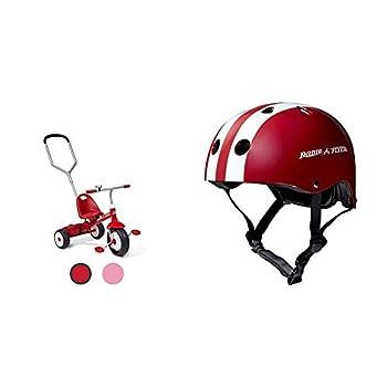 Radio Flyer Deluxe Steer & Stroll Trike & Helmet
