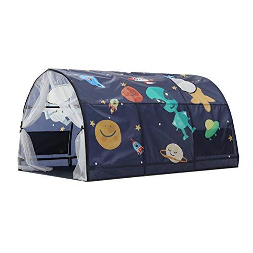 Kinderzelt, Bettdach Traumzelt Kinder Spielen Zelte, Sterne Mond und Weltraumbett Baldachin Kinderspielzelt Kinderbett Moskitonetz Bettzelt Jungen Mädchen