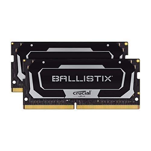 Crucial Ballistix BL2K8G26C16S4B 2666 MHz, DDR4, DRAM, Gaming Kit Speicher für Laptop, 16GB (8GB x2), CL16