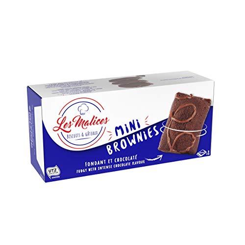 Les Malices - Mini Brownies Familiengrösse 1 kuchen (1920 gr) -Hergestellt in Frankreich
