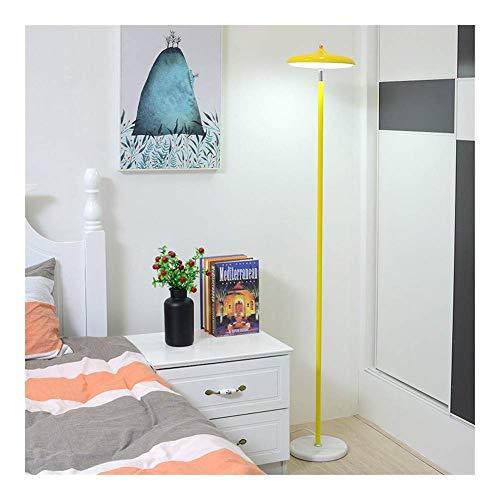 LED-vloerlamp, kamer, goudkleurig, dimbaar, warm, Nordic minimalistisch, creatief, woonkamer, verticaal, 1234, kleur: geel