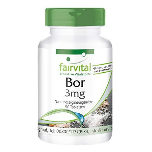 Bor 3mg Tabletten - VEGAN - 90 Tabletten - Spurenelement aus Natriumtetraborat