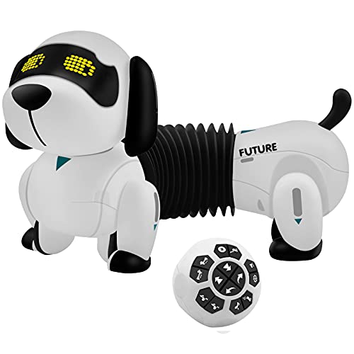 RC Robot Dog That Acts Like A Real Dog,Interactive Electronic Chip Robot Dog, Ai Robot Dog for Kids 3.4.5.6.7.8.9 Year Old and Up Adult and Seniors