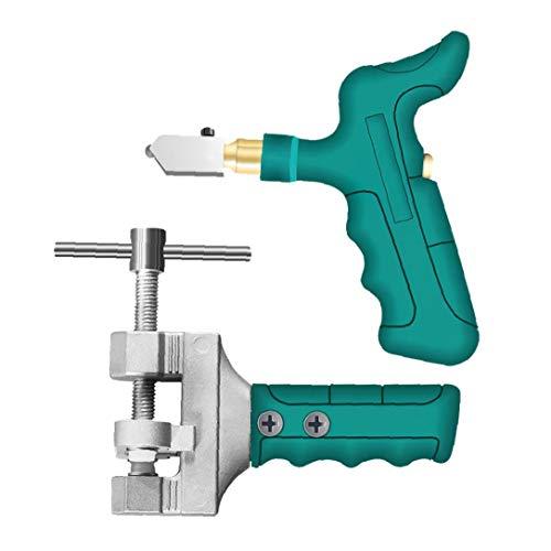 FAMKIT apretón de la mano del azulejo Divisor cortador de vidrio Kit grande abertura de corte de la rueda rápida para cortadoras de baldosas de cerámica de cristal de espejo