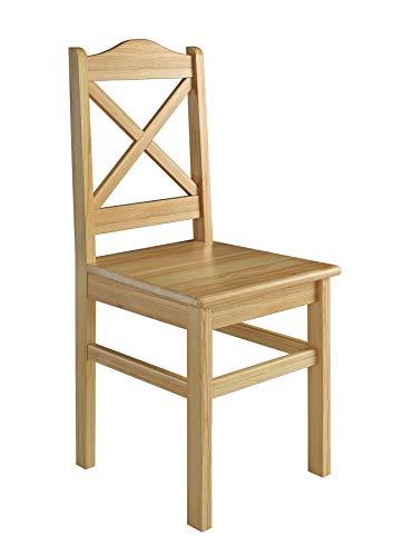 Erst-Holz® Küchenstuhl Massivholzstuhl Esszimmerstuhl Kiefer Stuhl 90.71-20