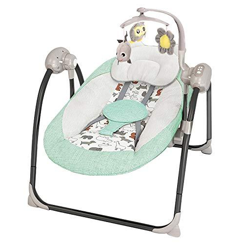 LLZH Automatische Babyschaukel, Klappbarer elektrischer Babywippe, Kompakte Schaukelwippe, Vergrößertes...