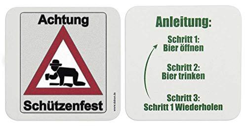 Deitert Bierdeckel Achtung Schützenfest 100 STK.