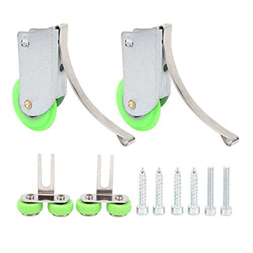 2 Set Pulley Wheel Green Concave-Convex Ti Alloy Partition Pulleys for Sliding Doors and Window DUO ER