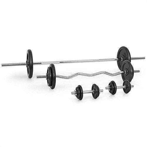 Klarfit Workout Hero Multistation - Banc d'haltérophilie , Banc de musculation , Support pour haltères , Barres de flexion pour bras et jambes , Capacité de charge max. : 160 kg , Cadre en acier