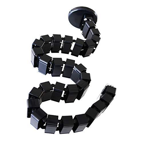 AIMEZO 128CM Kabelführungshülsen Kabel Wirbelsäulendrähte Kabelorganisator für Stehpulte Bürotische Höhenverstellbarer Schreibtisch (Schwarz)