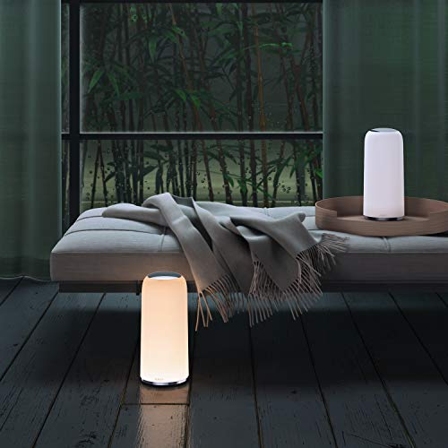 AUKEY Bedside Lamp Touch-Sensitive Table Lamp with Dimmable Warm White Light and Lighting Memory Function Night Light for Bedrooms and Living Rooms