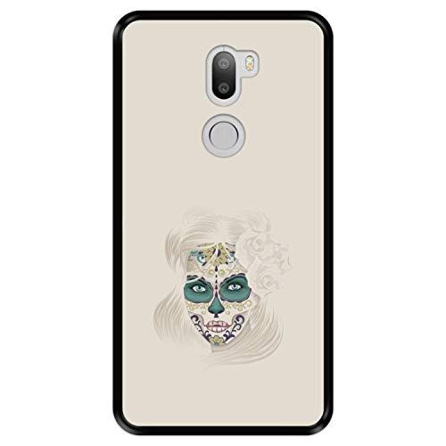 Hapdey Funda Negra para [ Xiaomi Mi5s Plus - Mi 5s Plus ] diseño [ Día de los Muertos, Calavera de azúcar ] Carcasa Silicona Flexible TPU