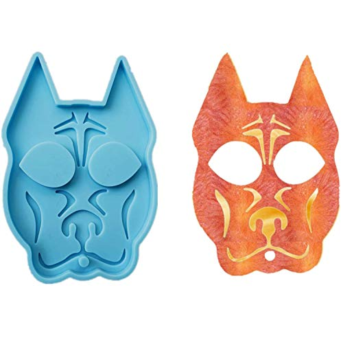 Super Glossy Cat Resin Mold Keychain Pendants Epoxy Jewelry Casting Mold Polymer Clay Resin Baking Mould for DIY Crafts Making (Dog)
