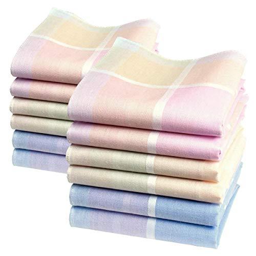 Petits mouchoirs féminins « Lucie » - 29cm x 29cm - 12 unités