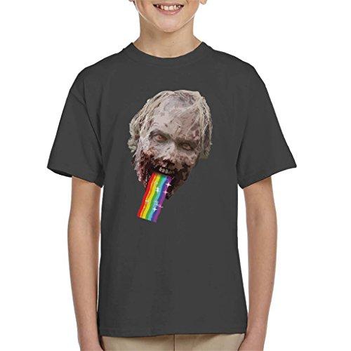 Walking Dead Walker Puking Rainbow Snapchat Filter Kid's T-Shirt