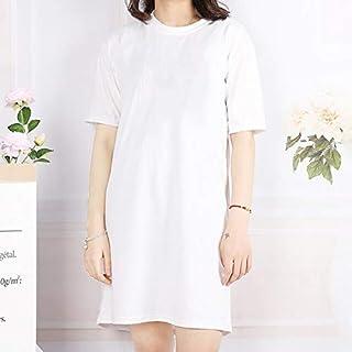 فساتين - فساتين صيفية عصرية 2020 فستان قصير الأكمام مطبوع كاجوال للنساء صيفي (فارغة XL)