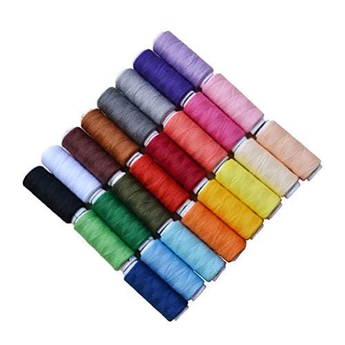Supvox 200 Yards Nähgarne Nähschnur Quiltgarn Farbe sortiert zum Quilten Perlen (24 Stück)