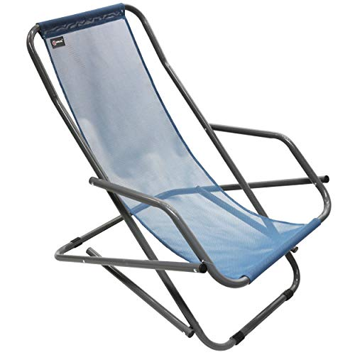 Homecall Folding rocking chair textilene blue