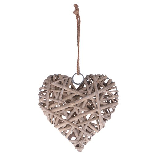 Sharplace Wicker Round/Heart/Star Hanging Decoration Wedding Christmas Home Party Decor - Heart