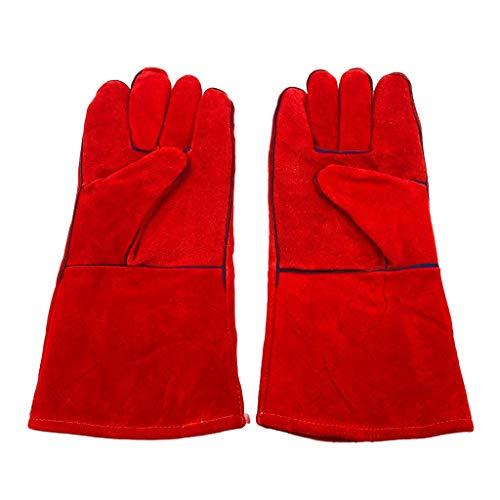 Mignon Lapin 耐熱 グローブ 革製 選べる カラー 手袋 アウトドア キャンプ 焚火 薪 ストーブ グリル BBQ 熔接 作業 (03 Cタイプ)