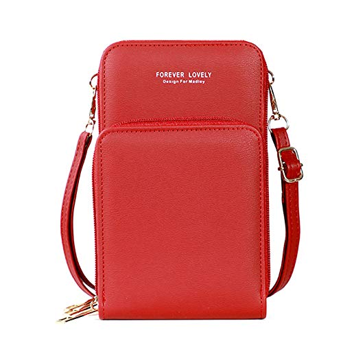 ZHISIDA Rfid Touch Screen Pu Leather Change Bag Phone Pouch Wallet Crossbody Mujer Regalo