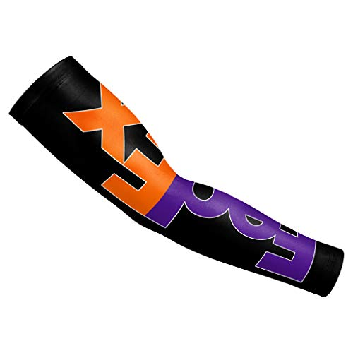 Men Women Compression-FedEx-Orange-Purple-Arm Sleeves Sun Protection Tattoo Cover 1 Pair