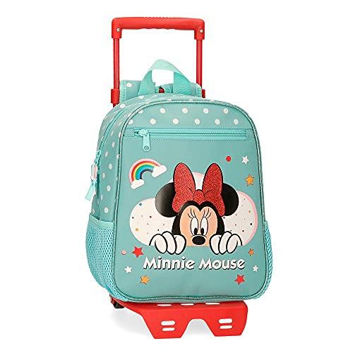 Disney Minnie Rainbow Bagagli-Borsa a Tracolla, Verde, 23x28x10 CMS Bambina