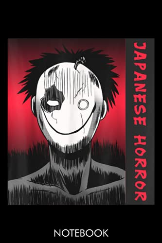 Japanese Horror Anime Smirk Masked Halloween Gift: Lined 6x9 120 Pages Notebook   Cute Anime Girl Diary or Notepad for Sketching and Writing   Gift for All Anime Lovers