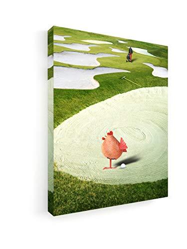 Rainer Stocké - Strand - 20x25 cm - Premium Leinwandbild auf Keilrahmen - Wand-Bild - Kunst, Gemälde, Foto, Bild auf Leinwand - Künstler