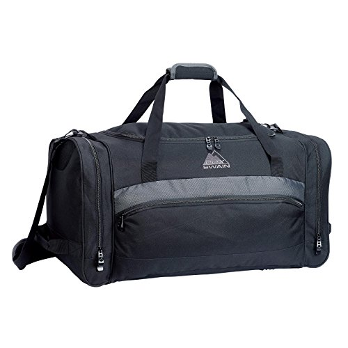 Cox Swain Sports Bag SPA - Gym Fitness Bag, Travel Bag with large zipped main compartment + Strap, Colour: Black