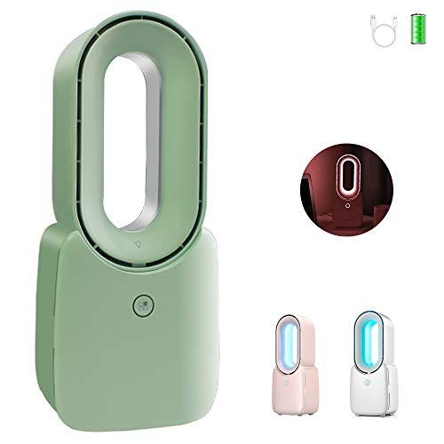 AYXC USB Ventilator Rotorloser Ventilator,mit Touch Control Mit LED Beleuchtung Energie Sparen Elektrolüfter,geeignet Für Büro, Schlafzimmer, Wohnzimmer Fan Lampe