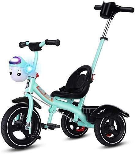 Xiaoyue Fahrräder Kinder Dreirad Kinderwagen-Licht-Fahrrad Kinderspielzeug Kinderwagen (Farbe: Blau, Größe: 76x52x60cm) lalay