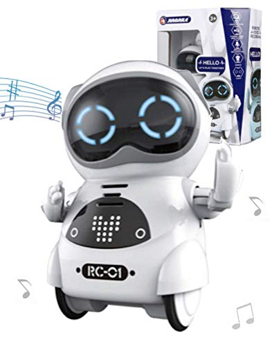 Toy Lob Pocket Robot, Communication Robot, Smart Robot, Mini Robot, Interactive, Dance, Music, Light, English Language Compatible, Japanese Instruction Manual Included (White)