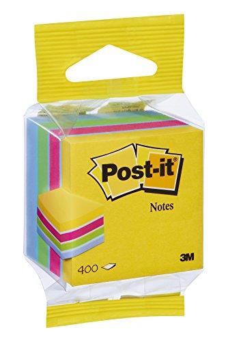 Post-it FT510280868 Mini Foglietto Adesivo, Multicolore (Giallo/Rosa/Verde/Blu)