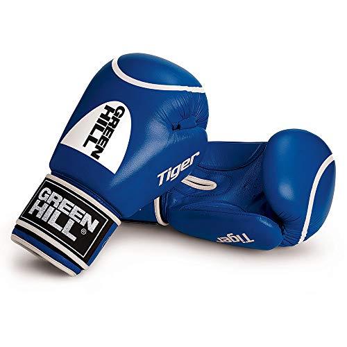 GREEN HILL Guantes DE Boxeo Tiger Rojo Azul Guante ANTISHOCK (12 oz)