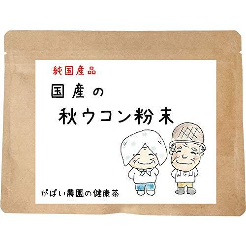 がばい農園国産秋ウコン粉末100gお茶健康茶