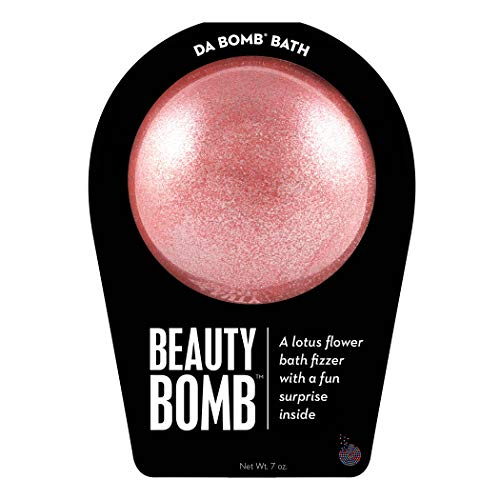 Da Bomb Beauty Bath Bomb, Pink Shimmer, Lotus Flower, 7 Ounce