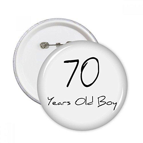 DIYthinker 70 Jahre alt Boy Alter Old Runde Stifte Abzeichen-Knopf Kleidung Dekoration Geschenk 5pcs Mehrfarbig L