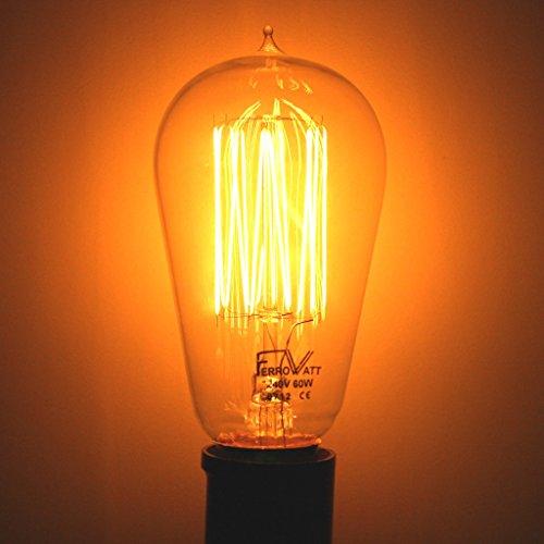 Ferrowatt 19106 - 60 watt 240 volt Squirrelcage Filament Double Contact Base Ferrowatt (1910) (F1910B22-24060)
