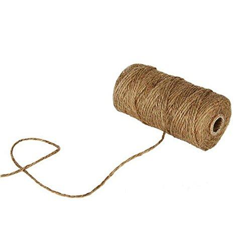 Toruiwa - Corde de jute naturelle solide - Corde décorative en chanvre pour bricolage, emballage cadeau, artisanat, décoration de festival - 100 m